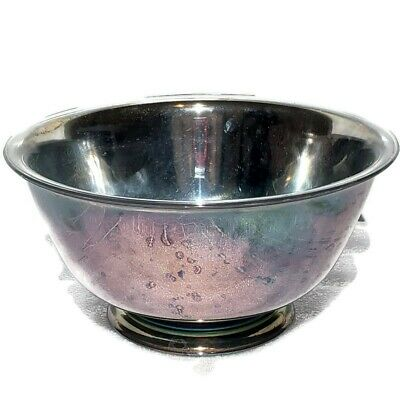 Paul Revere Reproduction Oneida 6 Inch Bowl Silverplate Patina with Original Box