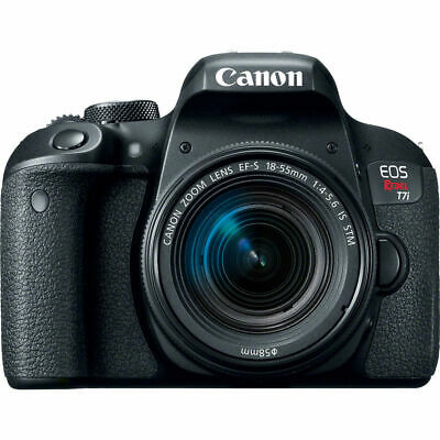 Canon EOS Rebel T7i 24.2MP DSLR Camera with 18-55mm Lens Video Creator Kit - VG