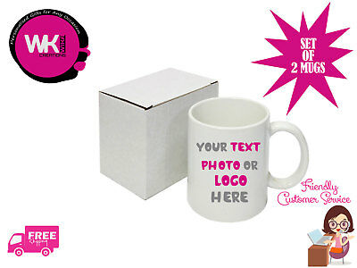 Personalised Mugs Set Gift Or Mugs With Different Artwork Printed In Bulk