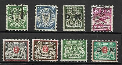 Danzig Lot / Collection Of 8 Stamps