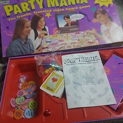 Retro Board Game - PARTY MANIA BOARD GAME WITH VHS BY PARKER GAMES