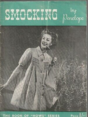 Vintage Retro Smocking Pattern by Penelope Book in good condition