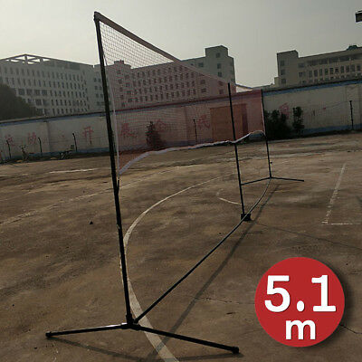 5.1m Portable Outdoor Volleyball Net Badminton Tennis Sport Playing Stand Set