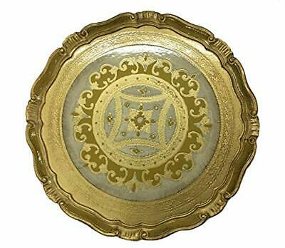 Authentic Italian Imports Florentine Large Circle Tray - Made in Italy