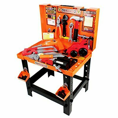Boley Builders - Construction Workbench and Toy Tools Set - 88 Piece Workshop
