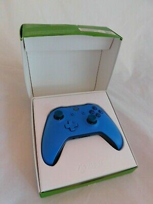 Microsoft Official Xbox One Wireless Controller Boxed Blue *Slight Audio Fault*