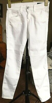Benetton jeans white stretch low rise skinny slim jeggings UK size W28 L30
