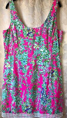 """NWOT Lilly Pulitzer """"POP PINK SOUTHERN CHARM HOLY GRAIL EATON DRESS """" Size 14"""