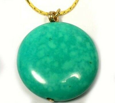 19thC Antique 42ct+ Turquoise Egypt Royalty Tutankhamen 14kt GoldFill Pendant