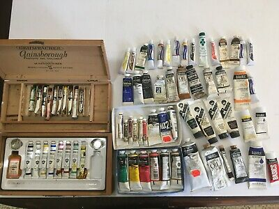 Lot of 72 Tubes Art Paint Used Oil Acrylic