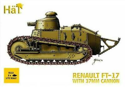HAT 8113 1/72 WWI French Army Renault FT17 Tank 37mm Cannon 2 Pack Kit FREE SHIP