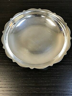 Vintage Silver Plated HEIRLOOM EP Round Dish