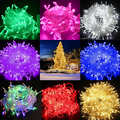 Fairy String Lights 500 LED Christmas Tree Wedding Xmas Party Decor Outdoor USA