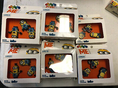 19 Lot New 3-Pack Despicable Me Minions Crocs Jibbitz Shoe Charms