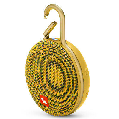 JBL Clip 3 Portable Bluetooth Speaker with Carabiner Gold