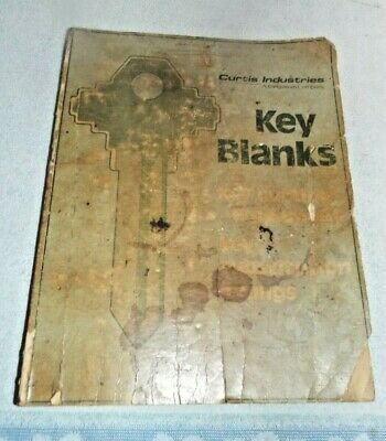 Vintage Curtis Key Blanks and Key Cutting Equipment Manual Catalog 70291 11-82
