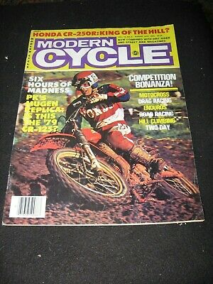 MODERN CYCLE magazine August 1978 Honda CR250R Suzuki PE250C Mugen  CR125R YZ80E