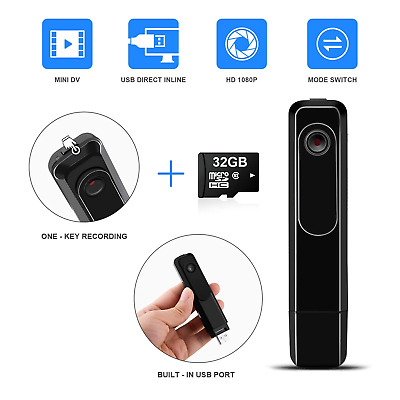 DZFTech Mini Body Camera DZFtech Body Spy Cam HD 1080P Wireless Portable Hidden