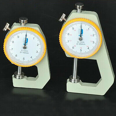 Handmade Thickness Mechanical Dial Gauge Tester Leather Craft Tool 0-20/0-10mm