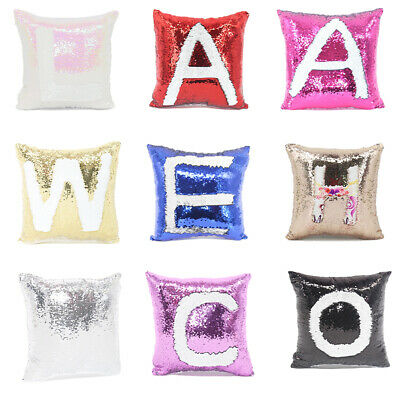 Reversible Sequin Pillow Case Mermaid Pillow Cover Sublimation COMBINED SHIP USA