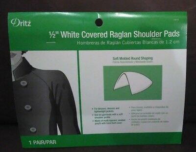 Natural Lot of 2 Sew Perfect Shoulder Pads #133-32 Covered Raglan Style