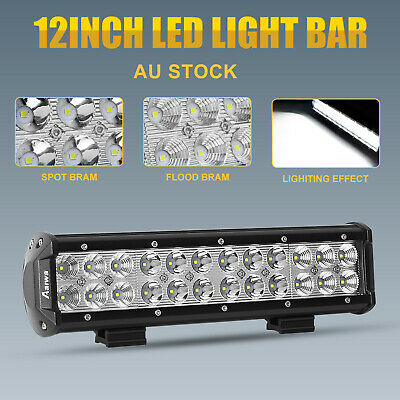 12inch CREE LED Work Light Bar Work Driving Lamp Spot Flood Combo OffRoad 4WD