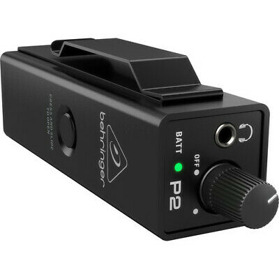Behringer P2, Ultra-Compact Personal In-Ear Monitor Amplifier XLR and TRS Inputs