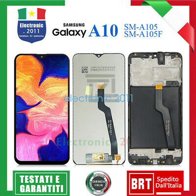 Display Lcd+Touch Screen Per Samsung Galaxy A10 2018 Sm-A105 Schermo Nero +Frame