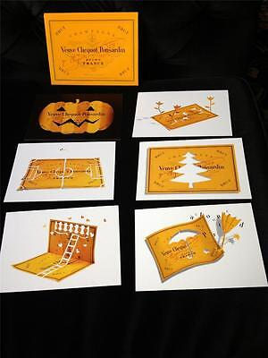 Veuve Clicquot Champagne 6 Promotional Postcards In Box New