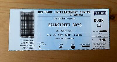 Backstreet Boys Brisbane Concert Ticket