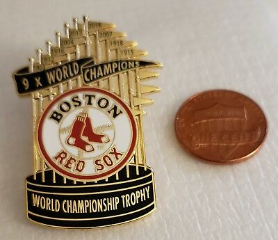 Boston Red Sox 2018 9 times WORLD SERIES CHAMPIONS Trophy Lapel Pin
