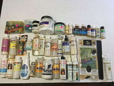 Large Lot Assorted Painting Supplies From Estate #21