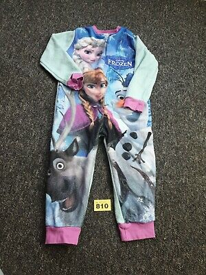 Girls Frozen All-in-one Sleepsuit Age 4 To 5 Years