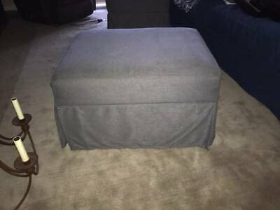 Enjoyable Pottery Barn Comfort Ottoman Slipcover Grainsack Buffalo Gmtry Best Dining Table And Chair Ideas Images Gmtryco
