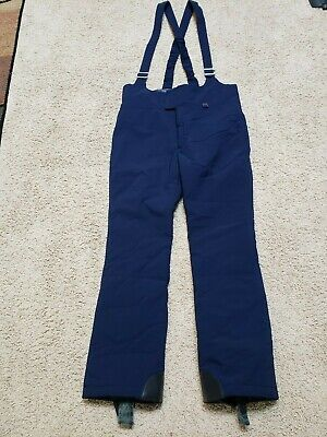 Sportcaster Blue Nylon Insulated Winter Snow Ski Bib Pants Size 36 Tall