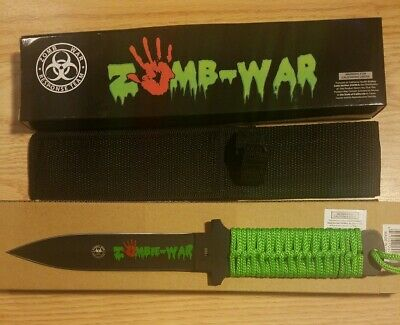 """11"""" Zombie War Tactical Double-Edged Dagger Combat Hunt Camping Survival Knife"""