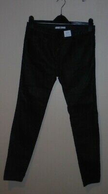 Bnwt M&S Girls Stylish Black Faux Leather Look Trousers Age 13-14 Years