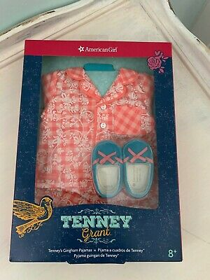 American Girl Tenney Grant Tenney's Gingham Pajamas New in Box