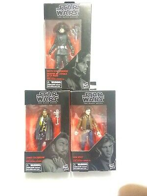 Star Wars The Black Series Death Star Trooper + Han + Lando 6in Figure Lot 3