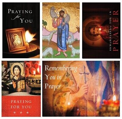 Orthodox Sympathy Greeting Cards, pack of 10, mixed assortment w/ envelopes -NEW