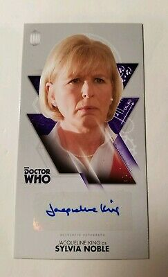 Jacqueline King as Sylvia Noble Autograph  Doctor Who Widevision Tenth Dr