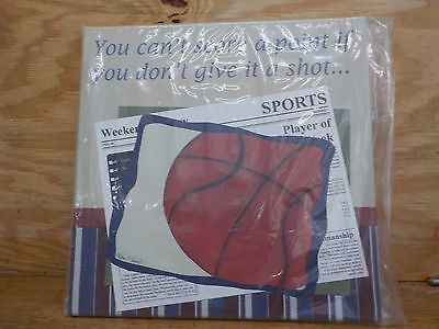 """Doodlefish Gallery Wrapped 18""""x18"""" Wall Art, Basketball in the News"""