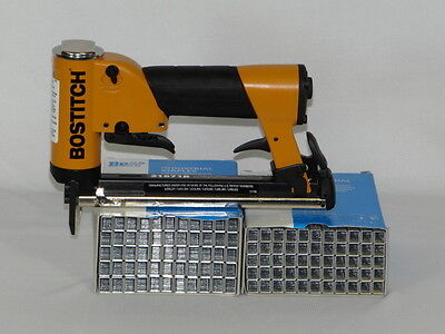 Upholstery Stapler Air, Bostitch Bht21671B Staple Gun, & 2 Bxs  Staples