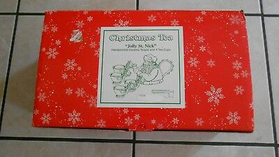"""*Pre-Owned* Dept. 56 Christmas Tea """"Jolly St. Nick"""" (as pictured)  *never used*"""