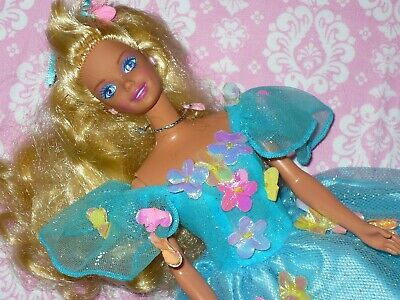 Mattel Barbie Doll ~ 1990's LONG BLONDE HAIR with Clothing Clothes FLORAL Dress