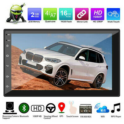 7'' 2 DIN Android 9.1 Car Stereo Radio  GPS WIFI Player Head Unit