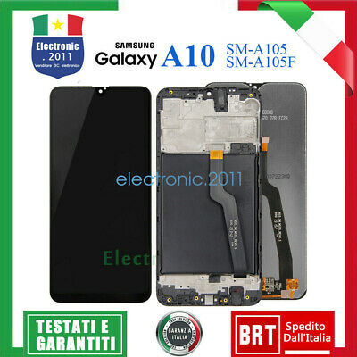 Display Lcd Samsung Galaxy A10 2018 Sm A105 F Fn Ds Touch Screen Vetro Schermo