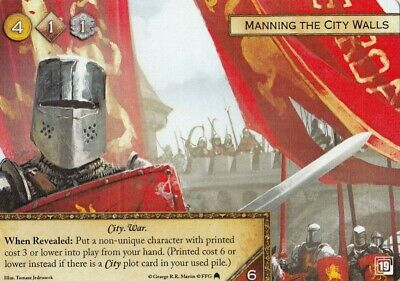 A Game of Thrones Promo Card - Manning the City Walls