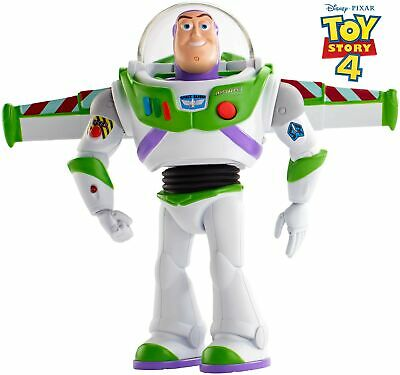 "Disney Pixar Toy Story Ultimate Walking Buzz Lightyear, 7"" Tall Figure with 2"