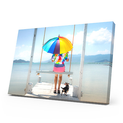 Your Personalised Photo on A3 Ready to Hang Canvas Print - Framed Large Box